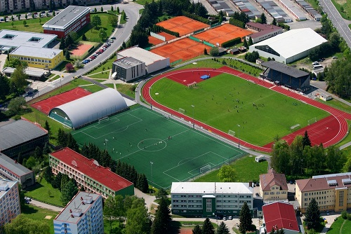 college campus-soccer field-facilities-football field-track