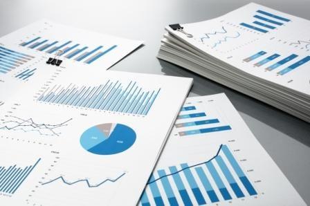 charts-graphs-printouts-pie graph-blue-reports-asset management