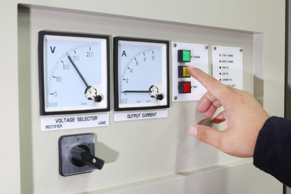 control panel-voltage-output current-finger pressing button-condition-based maintenance