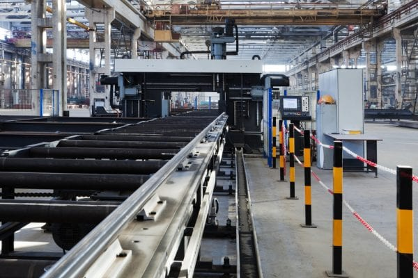 Metalworking equipment asset in a modern workshop.